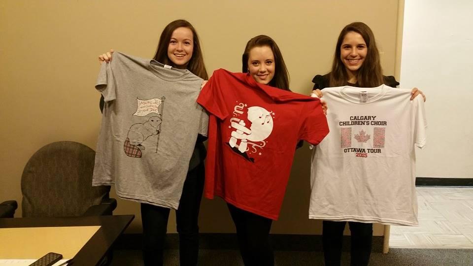 Calgary Children's Choir tour shirts
