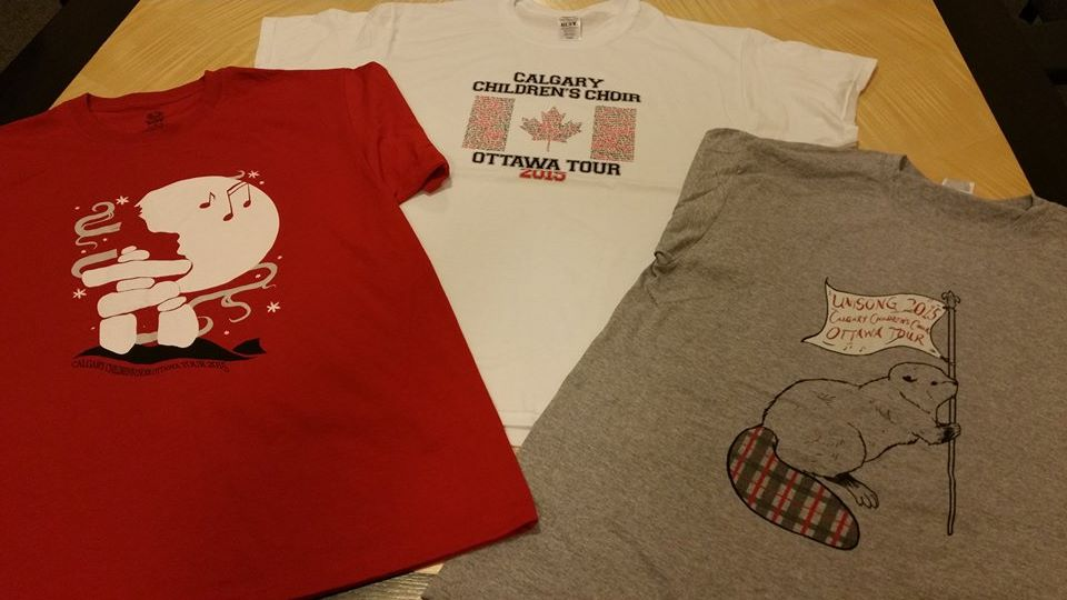 Calgary Children's Choir tour shirts2